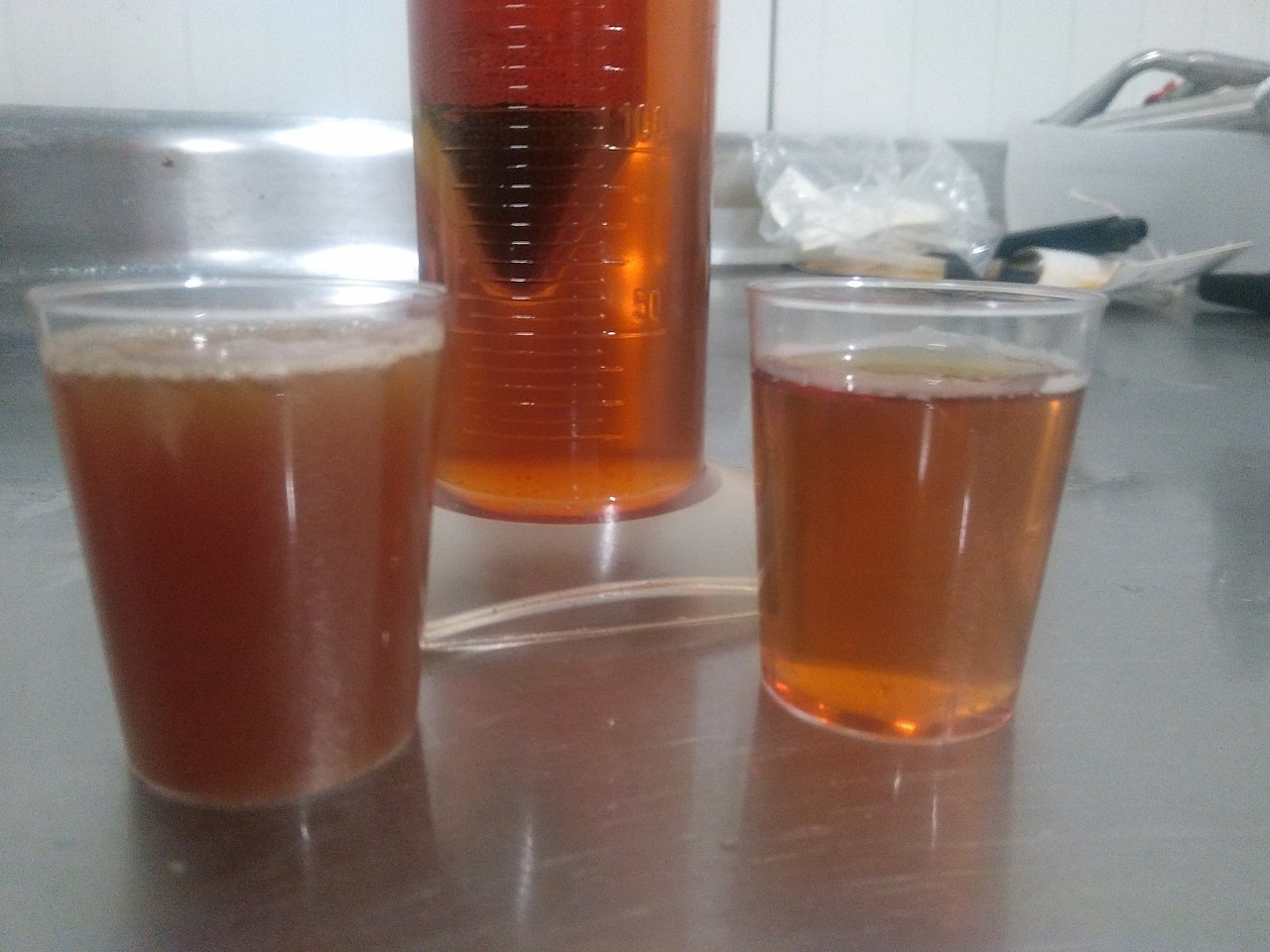 Сидр до и после естественной фильтрации