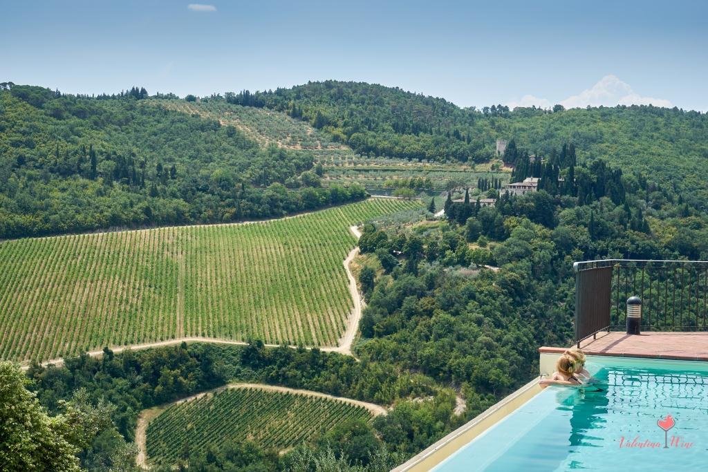 Вид с террасы Castello Vicciomaggio