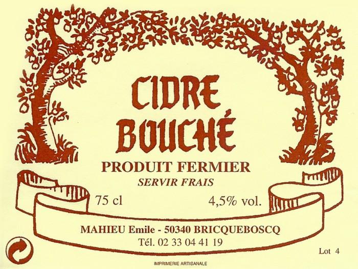 Старая этикетка Cidre bouché