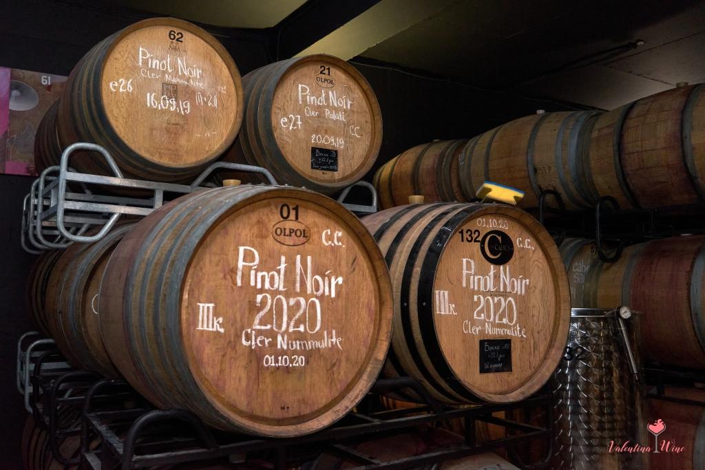 Классические дубовые бочки для выдержки вина