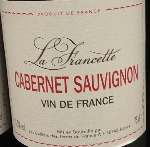 Этикетки столового вина категории Vin de France