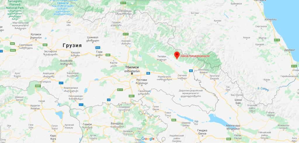 Карта региона Киндзмараули