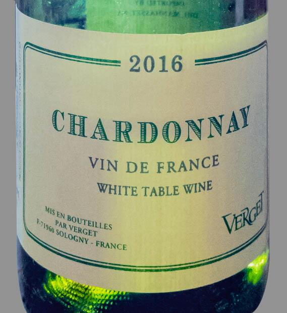 Этикетка столового вина Vin de France