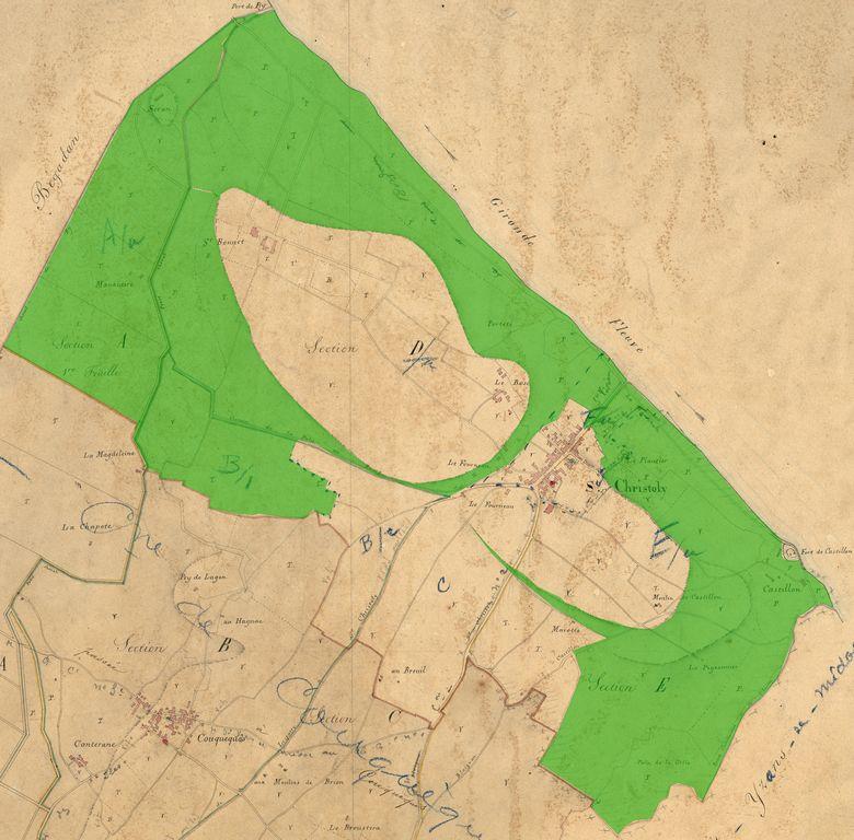 Карта Болот Медока