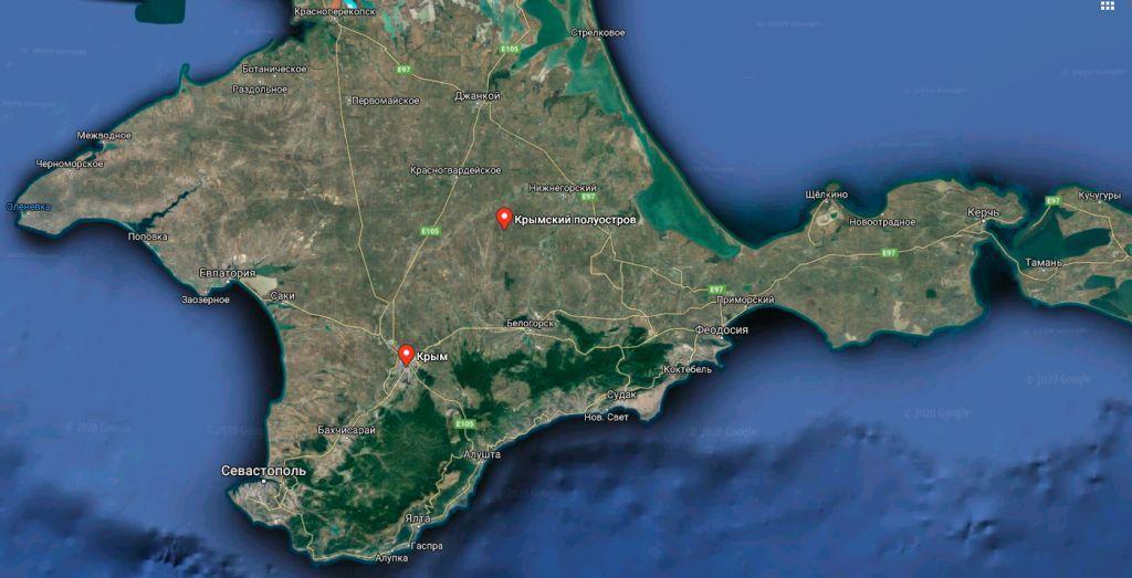 Карты Крымского полуострова