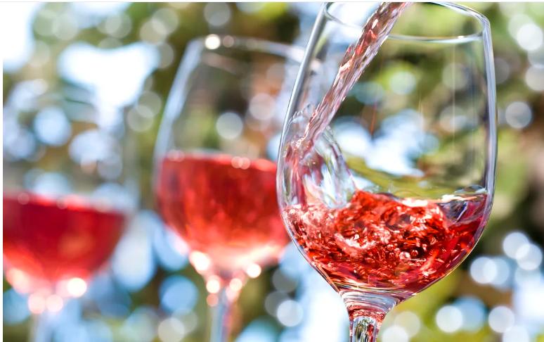Розовые вина франции
