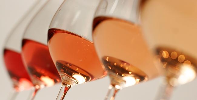 Оттенки розовых вин
