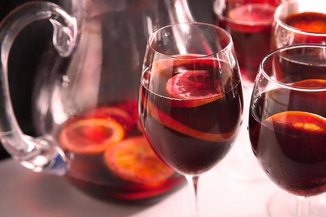 Классическая сангрия на красном вине