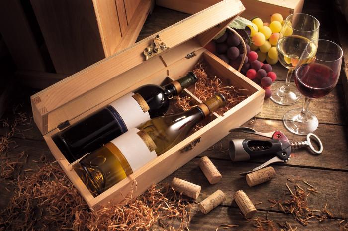 Оформление вина в подарок