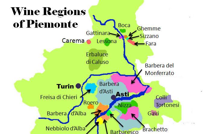 Карта апелласьонов Пьемонта