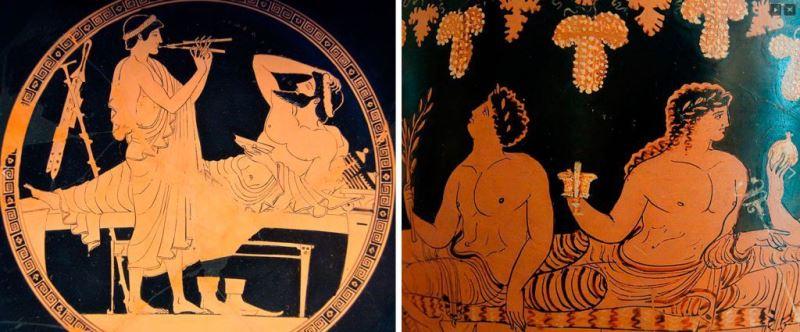 Аперитив в Древней Греции