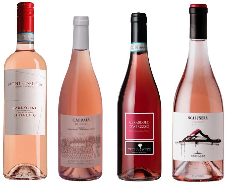 Итальянское розовое вино для лета